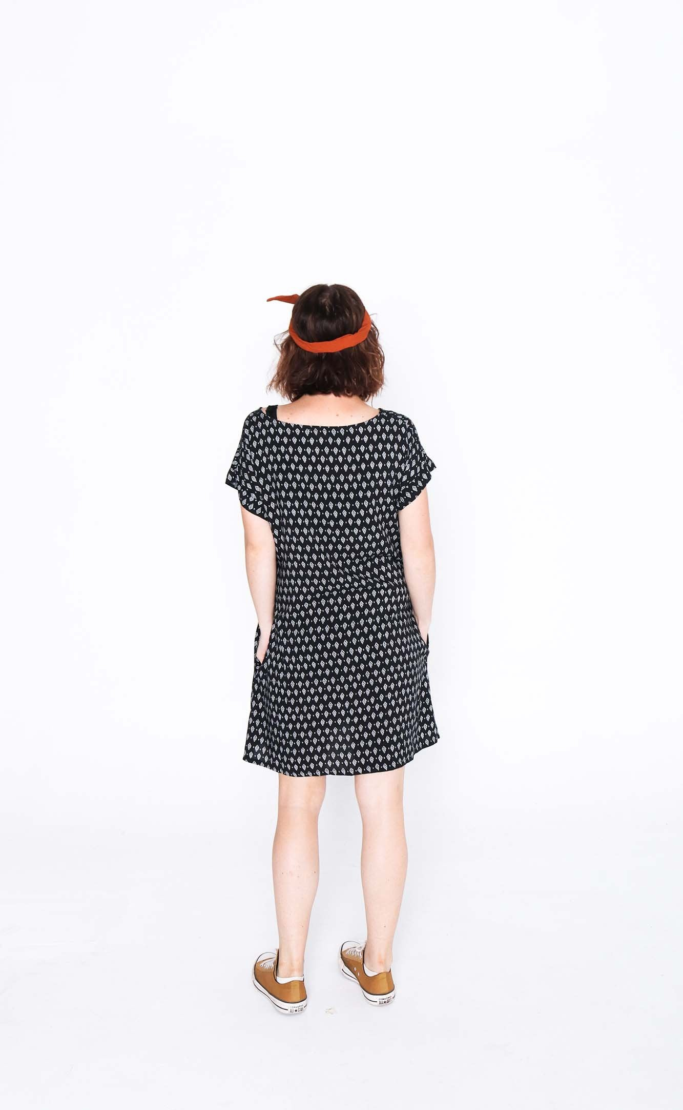 Black Diamond Socheat Pocket Dress - Back