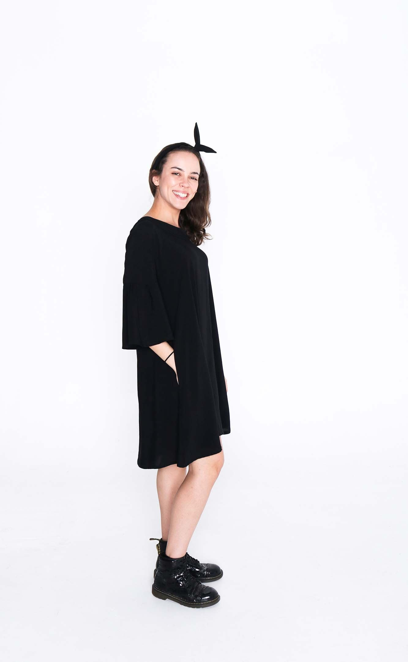 Black Susie Dress - Side