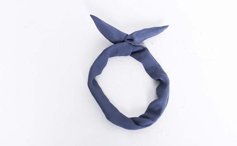 Navy Crinkle Wire Headband