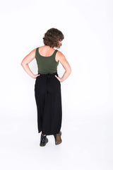 Black Wrap Pants - Back