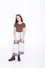 Lined Pages Wrap Pants
