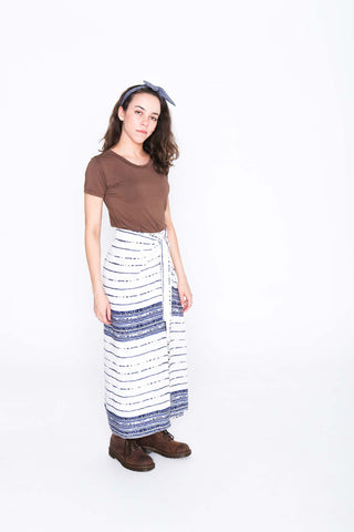 Lined Pages Wrap Pants - Side