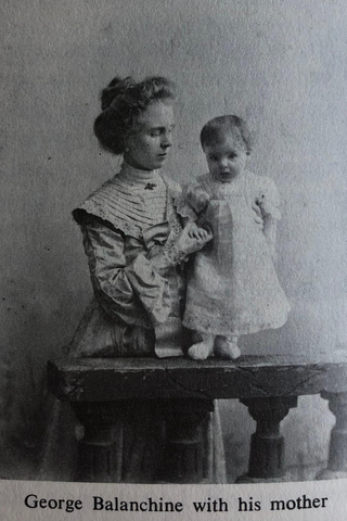 george balanchine with his mother