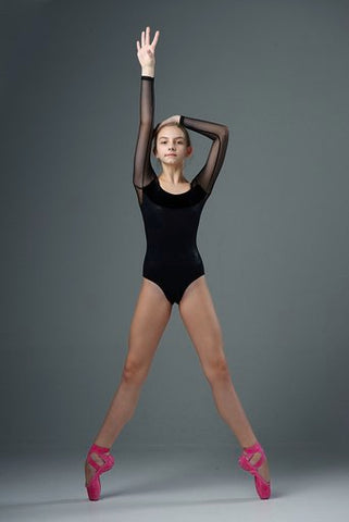 Isabella McCool wears Pointe Paint in Dahlia