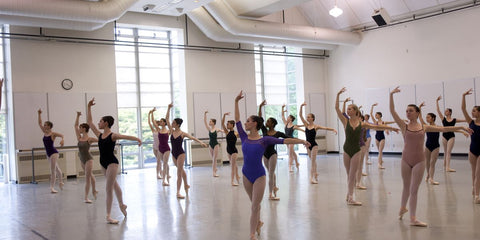 Students in class at Pacific Northwest Ballet School's Summer Program. Angela Sterling, Courtesy PNB.