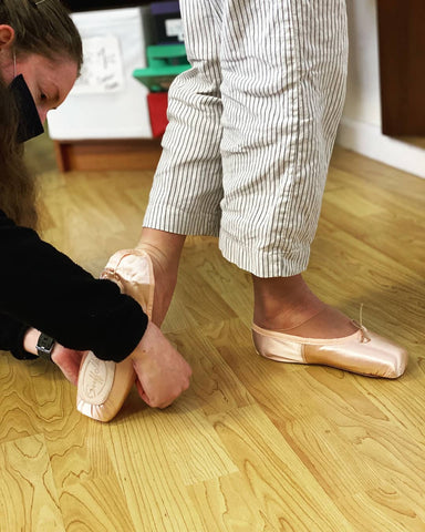 Pointe shoe fitting at SF Dance Gear