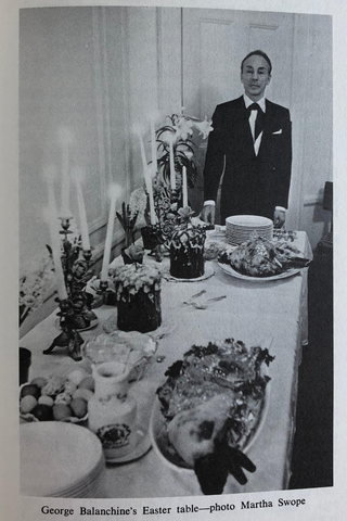 george balanchine the ballet cook book easter table