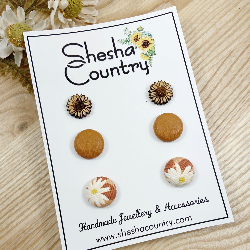 Rust Floral Gift Set
