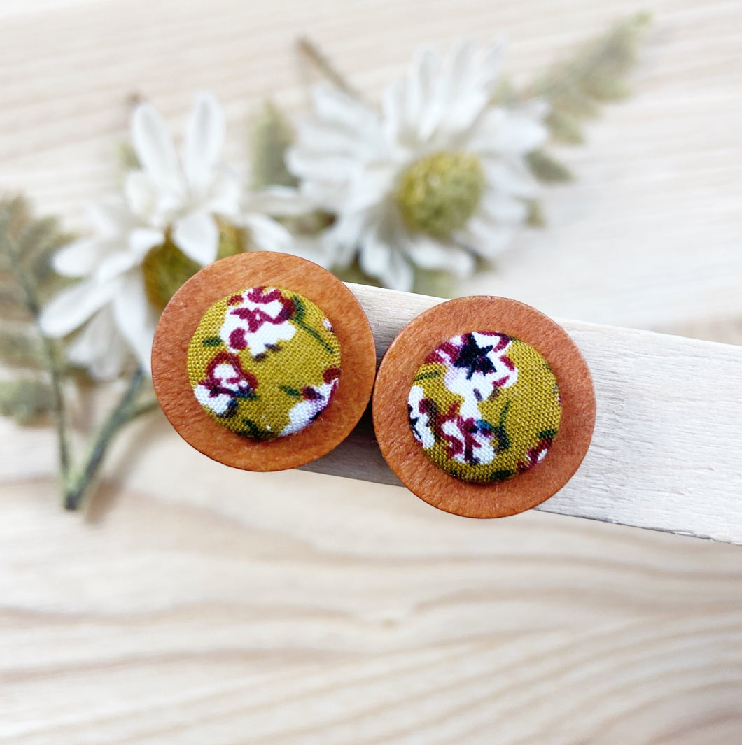 Autumn Floral Wood Earrings