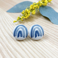 Blue Rainbow Studs • 2 colours