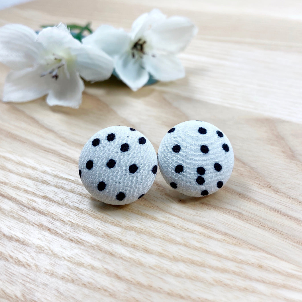 Monochrome Spotty Studs