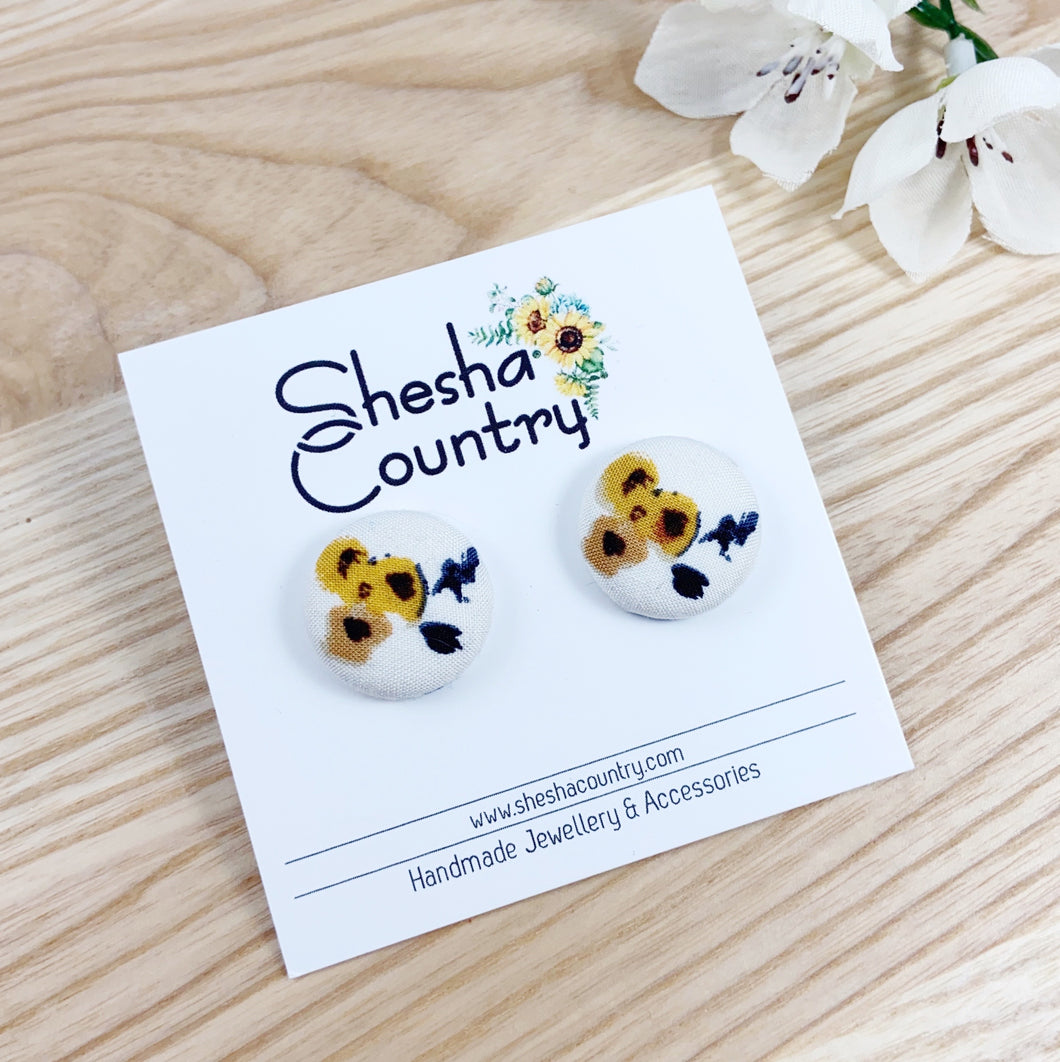 Vintage Sunflower Studs