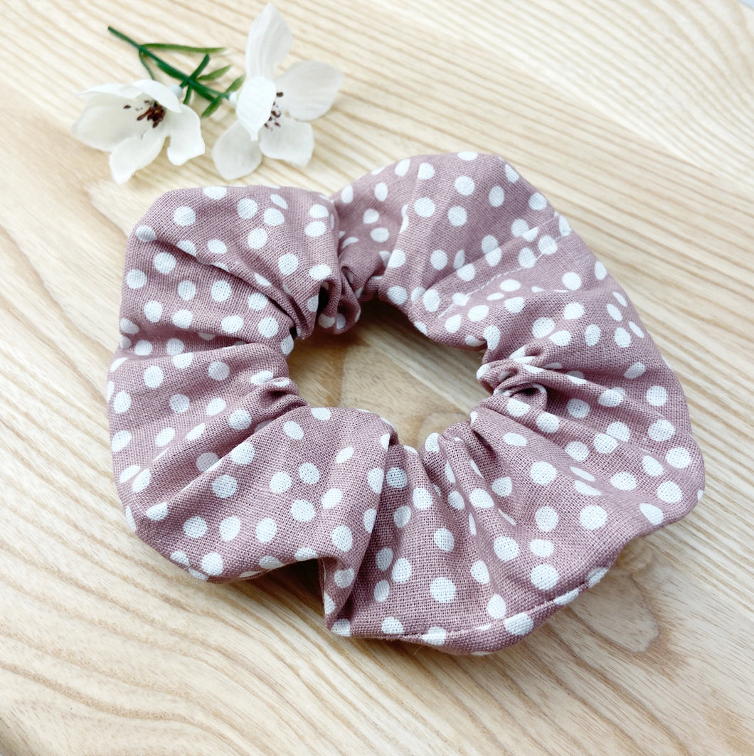 Blush Dotty Scrunchie