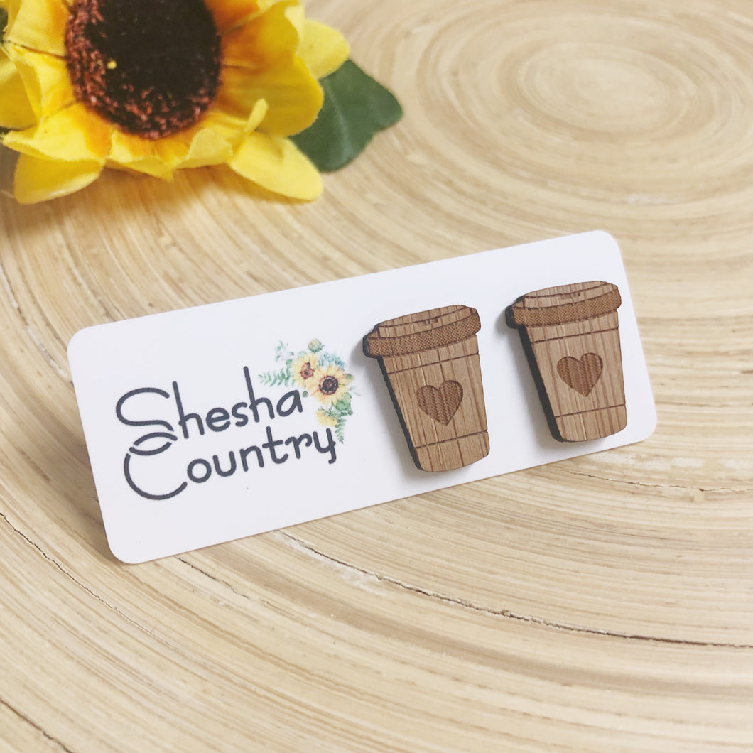 'I love Coffee' Wood Studs