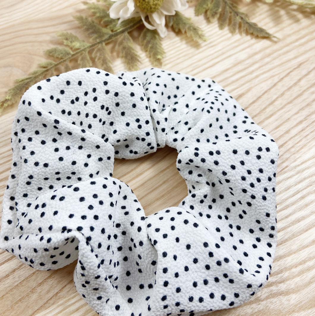 Monochrome Spotty Scrunchie
