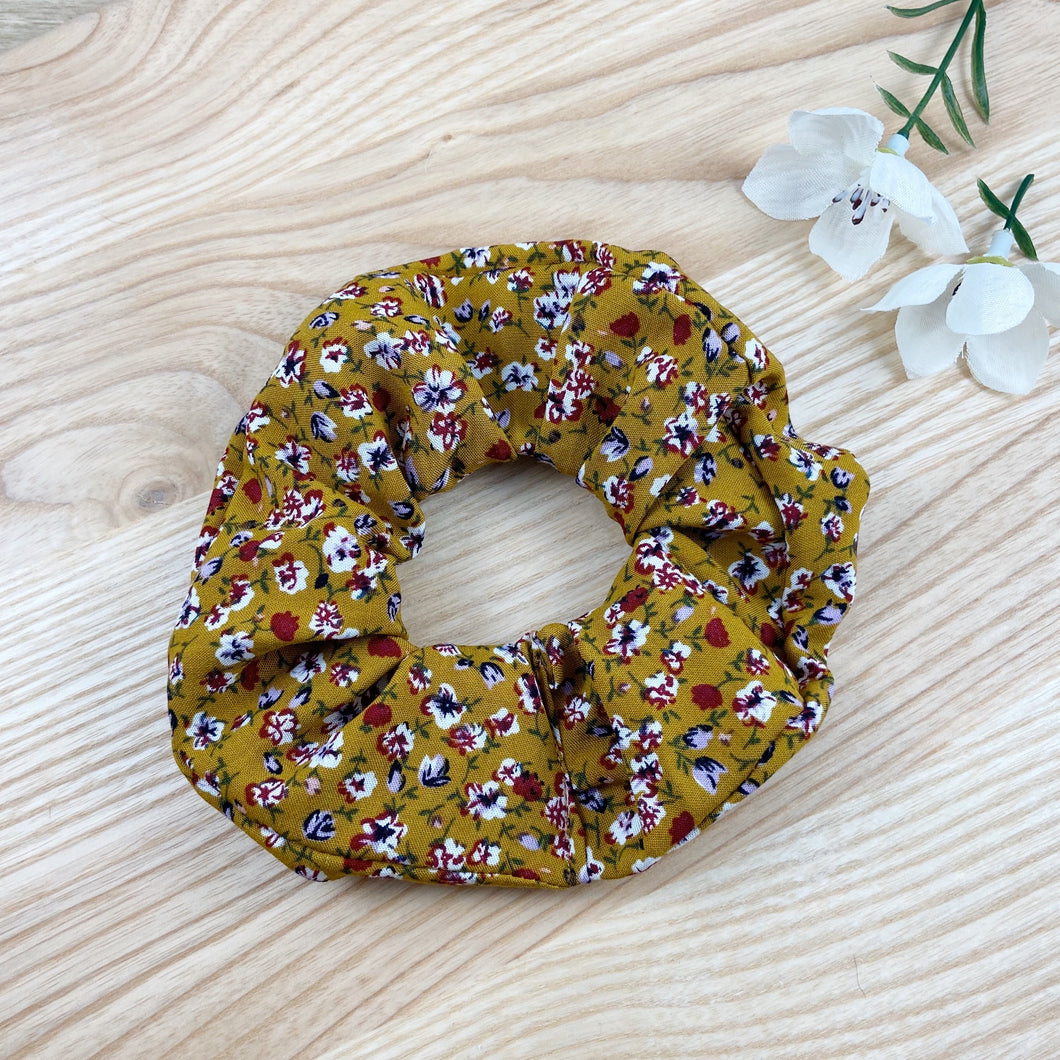 Autumn Floral Scrunchie