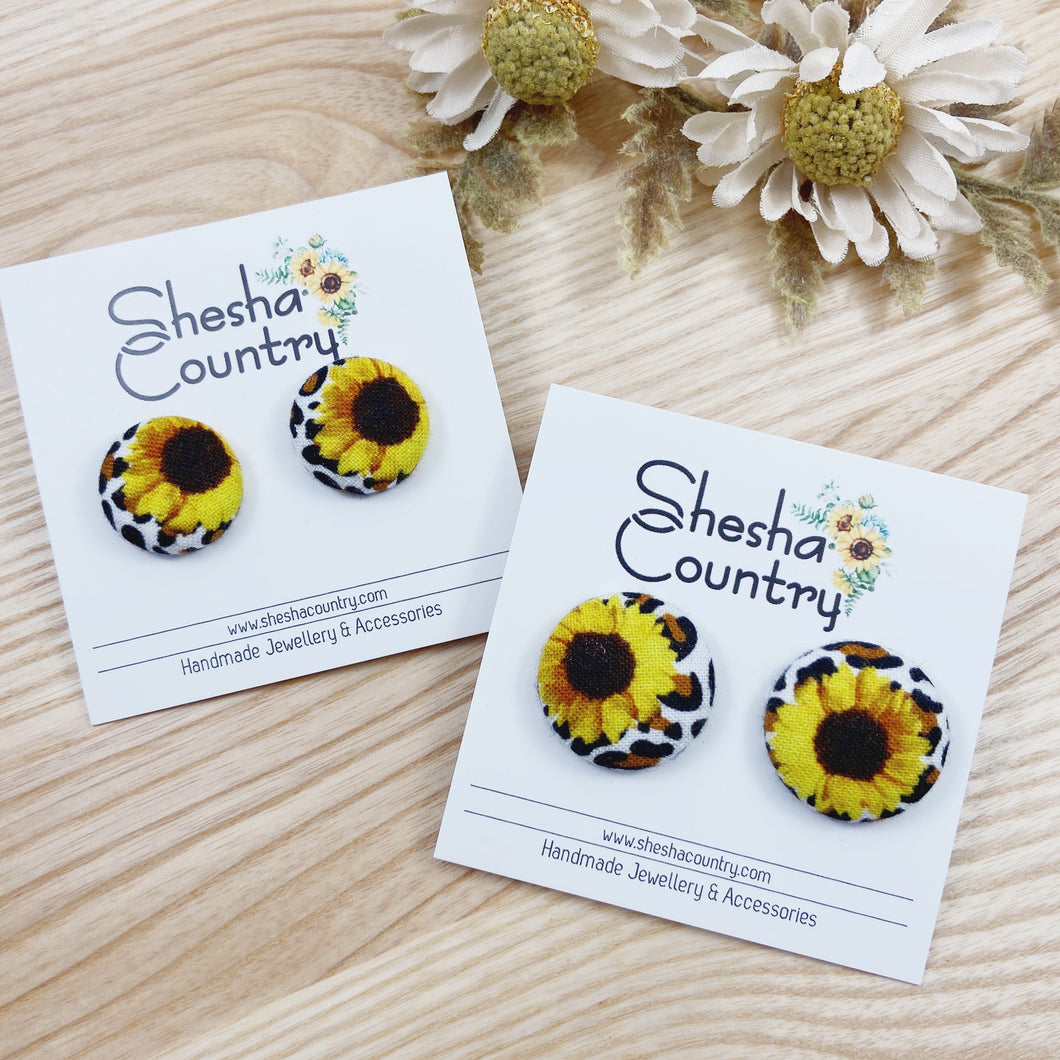 Sunflower + Leopard Studs