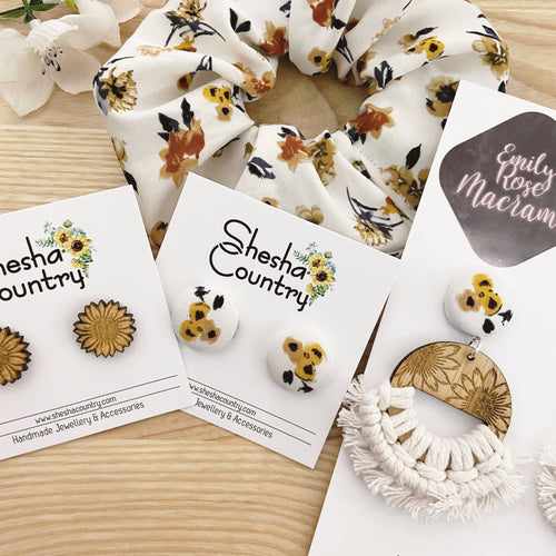 Vintage Sunflower Set • choose your earrings