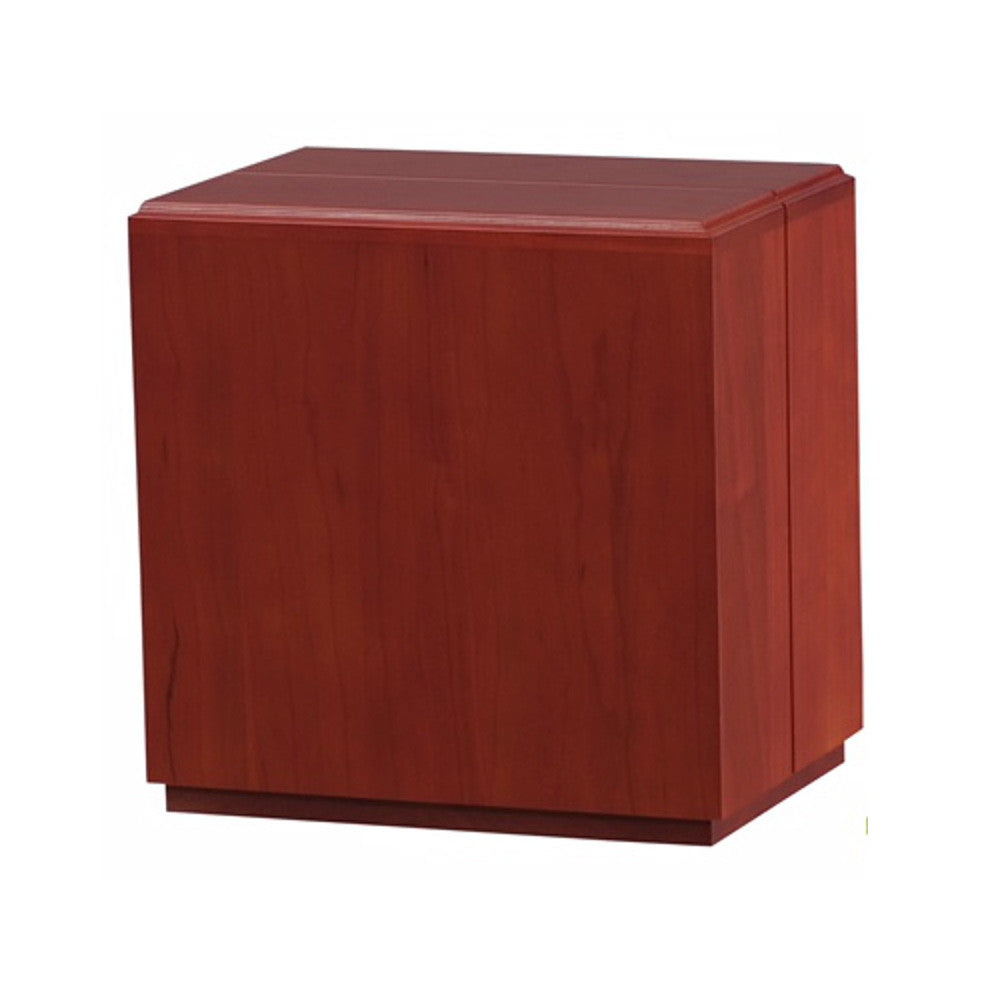 Modern Vertical Cherry Wooden Cremation Urn  100% Solid Cherry Wood  Adult  Size