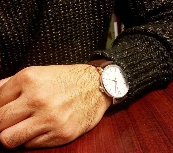 simple brown classic sleek watch for men from Valor watches australia