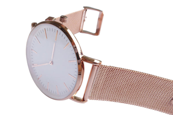 Chi Rose Gold Metal Mesh Strap watch for women unisex from valor watches australia