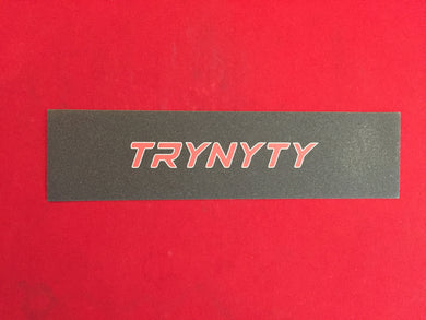 TRYNYTY Limited Alt Banner Red & White Griptape (1 sheet)