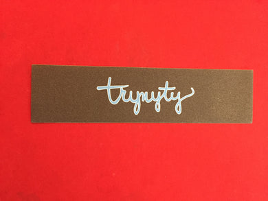 TRYNYTY Limited Stanley Script Blue & White Griptape (1 sheet)