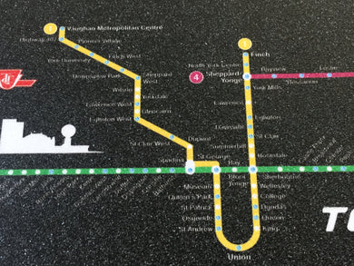 TRYNYTY Toronto Subway Map Griptape (1 sheet)