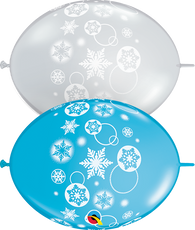 "12""Quick Links Imprint Assorted Snowflakes & Circles-50 Count, 12QLIA, Qualatex, tmyers.com - T. Myers Magic Inc."