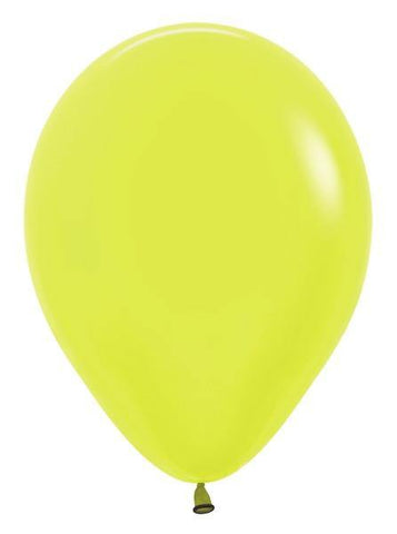"5"" Round Betallatex Neon Yellow-100 Count, 5RBN, Betallatex, tmyers.com - T. Myers Magic Inc."