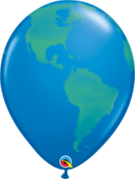 "11"" Globe Green on Dark Blue-50 Count"