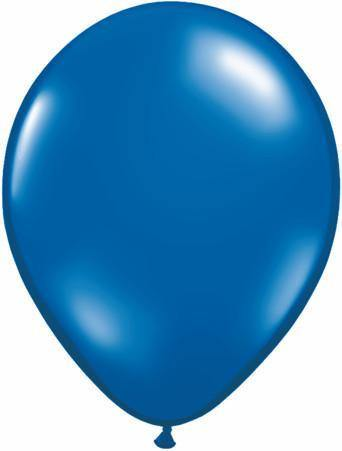 "11"" Round Qualatex Jewel Sapphire Blue-100 Count, 11RQJ, Qualatex, tmyers.com - T. Myers Magic Inc."