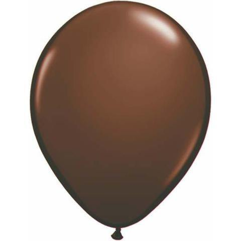 "11"" Round Qualatex Fashion Chocolate Brown-100 Count, 11RQF, Qualatex, tmyers.com - T. Myers Magic Inc."