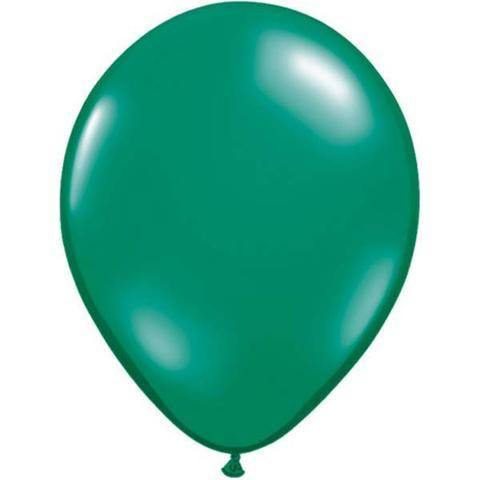 "11"" Round Qualatex Jewel Emerald Green-100 Count, 11RQJ, Qualatex, tmyers.com - T. Myers Magic Inc."
