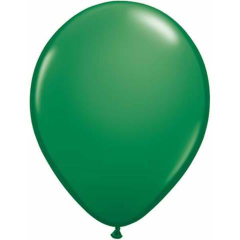 "11"" Round Qualatex Standard Green-100 Count, 11RQS, Qualatex, tmyers.com - T. Myers Magic Inc."