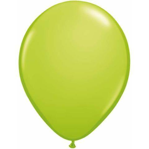 "11"" Round Qualatex Fashion Lime Green-100 Count, 11RQF, Qualatex, tmyers.com - T. Myers Magic Inc."