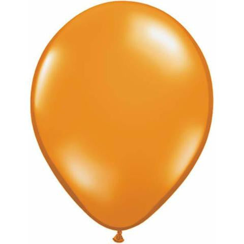 "11"" Round Qualatex Jewel Mandarin Orange-100 Count, 11RQJ, Qualatex, tmyers.com - T. Myers Magic Inc."