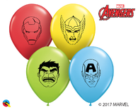 5RQI MARVEL HEROES FACE ASSORTMENT, 5RQI, Qualatex, T. Myers Magic Inc. - T. Myers Magic Inc.