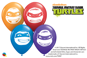 5RQI NINJA TURTLES FACES ASSORTMENT, 5RQI, Qualatex, T. Myers Magic Inc. - T. Myers Magic Inc.