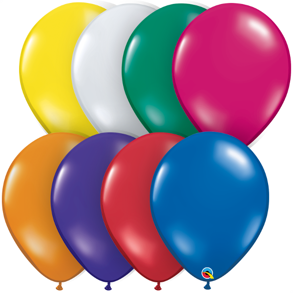 "16"" Qualatex Jewel Tone Assortment-50 Count, 16RQAJ, Qualatex, tmyers.com - T. Myers Magic Inc."