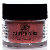 Mehron Glitter Dust Dynamite Red, Face Paint, Mehron, tmyers.com - T. Myers Magic Inc.