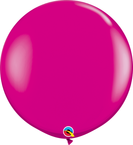 "36"" Qualatex Fashion Wild Berry Round - 2 Count, 3FTQR, Qualatex, tmyers.com - T. Myers Magic Inc."