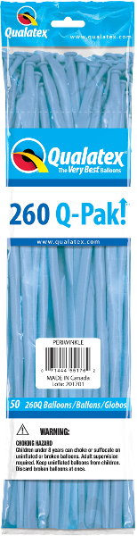 260Q Pak! Fashion Tone Periwinkle-50 Count, 260Q-Pak, Qualatex, tmyers.com - T. Myers Magic Inc.