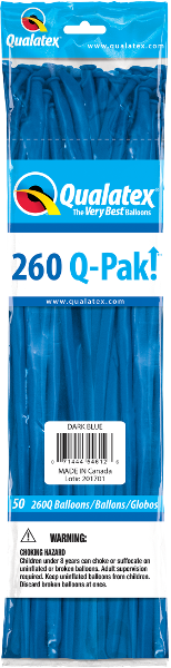 260Q-Pak! Standard Dark Blue-50 Count, 260Q-Pak, Qualatex, T. Myers Magic Inc. - T. Myers Magic Inc.