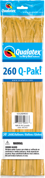 260Q-Pak! Fashion Tone-Goldenrod-50 Count, 260Q-Pak, Qualatex, T. Myers Magic Inc. - T. Myers Magic Inc.