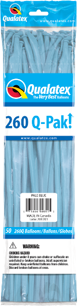260Q-Pak! Standard Pale Blue-50 Count, 260Q-Pak, Qualatex, T. Myers Magic Inc. - T. Myers Magic Inc.