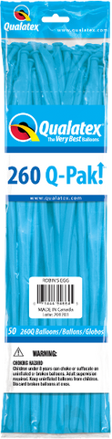 260Q Pak! Fashion Tone Robin's Egg Blue-50 Count, 260Q-Pak, Qualatex, T. Myers Magic Inc. - T. Myers Magic Inc.