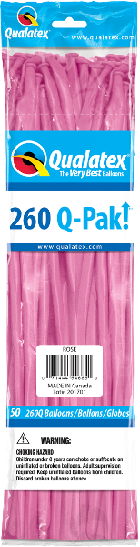 260Q Pak! Fashion Tone Rose-50 Count, 260Q-Pak, Qualatex, T. Myers Magic Inc. - T. Myers Magic Inc.