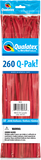 260Q-Pak Standard Singles Red-50 Count, 260Q-Pak, Qualatex, T. Myers Magic Inc. - T. Myers Magic Inc.
