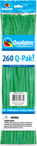 260Q Pak! Fashion Tone Spring Green-50 Count, 260Q-Pak, Qualatex, tmyers.com - T. Myers Magic Inc.